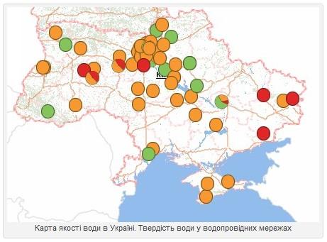 Карта якості води України
