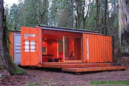 container cabin Casas con contenedores baratas y ecológicas