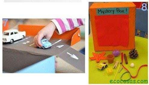 carretera de carton  25 formas de reciclar cajas de cartón para que tus hijos se diviertan