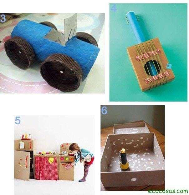 juguetes carton  25 formas de reciclar cajas de cartón para que tus hijos se diviertan