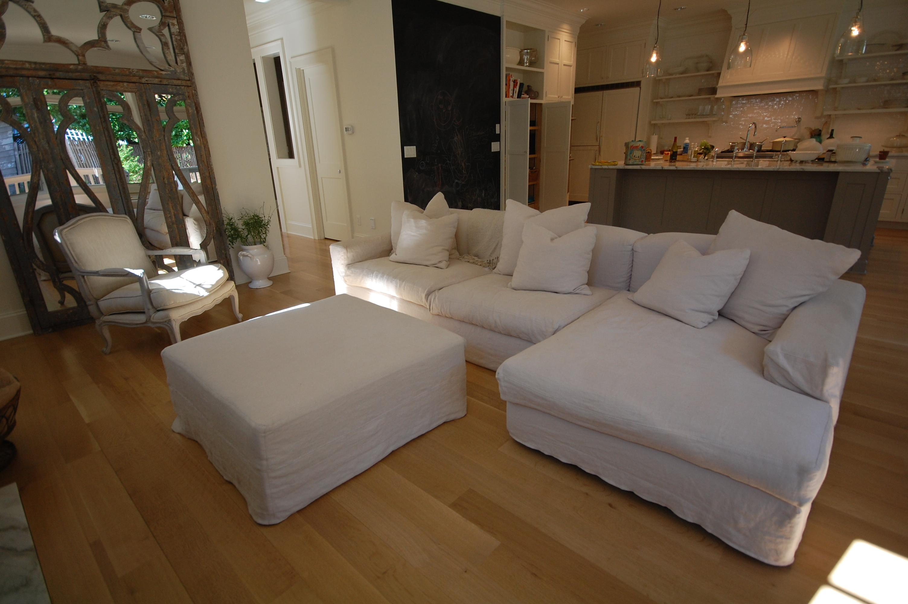 linen sofa slipcover lazy boy reclining covers more products   couch seattle