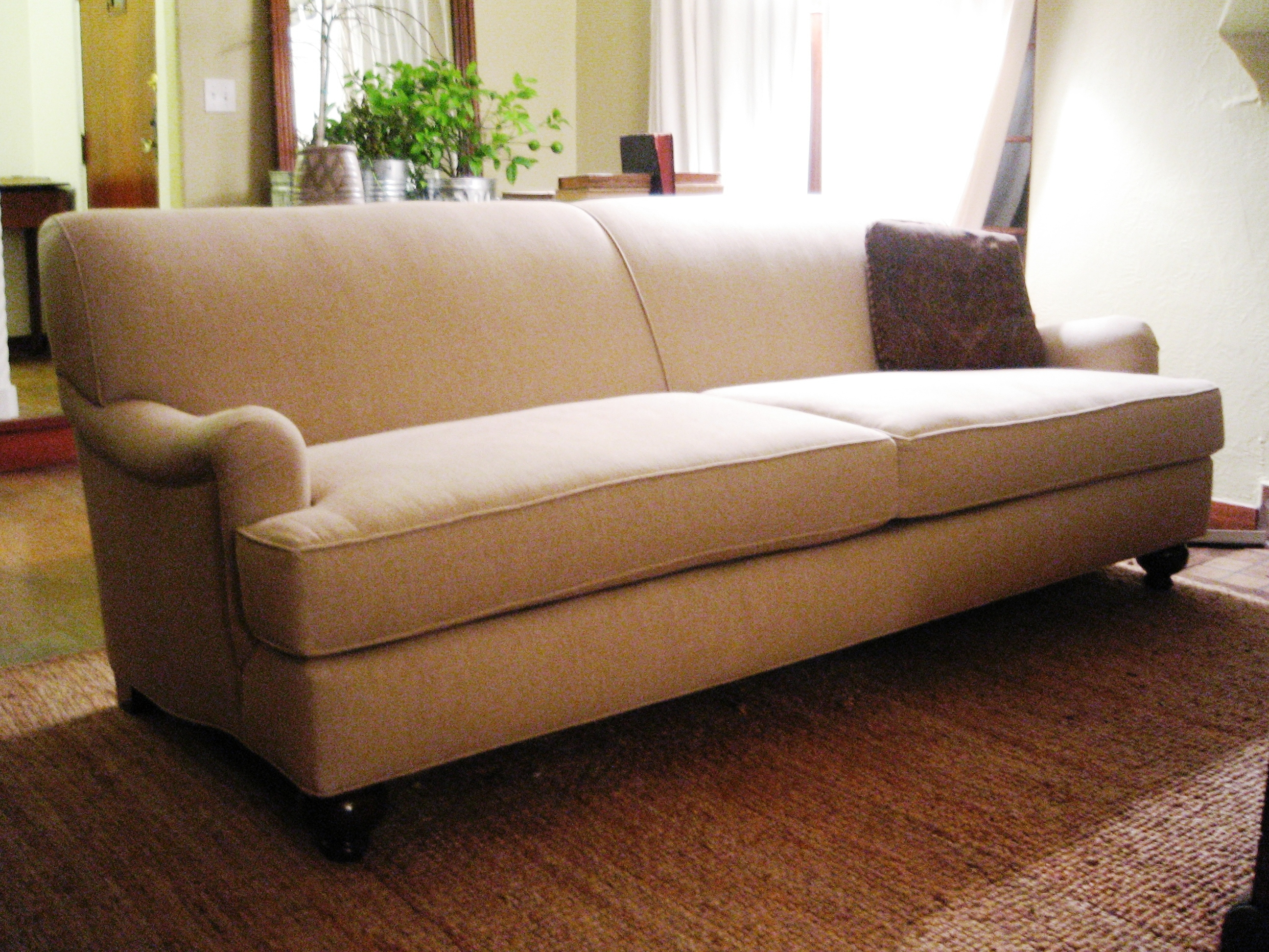 mid century style sofa canada living room wall ideas couch seattle | custom to the inch seating at non-custom ...