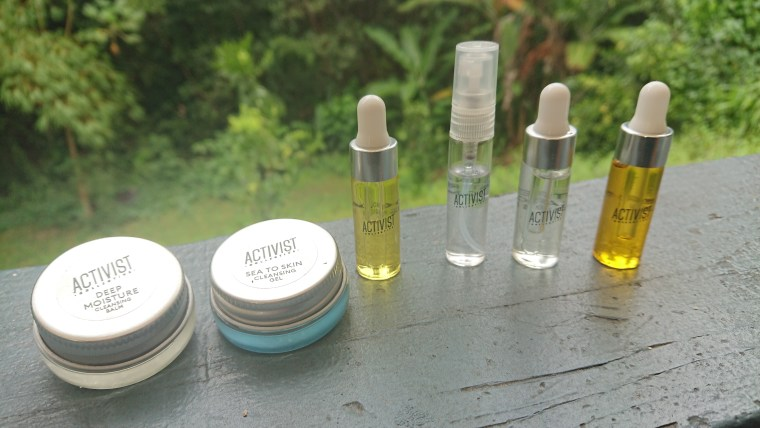 Activist skincare sample product photo
