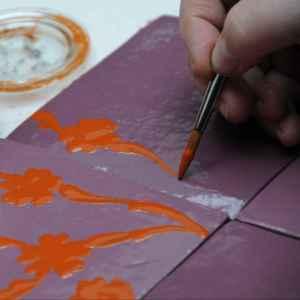 carreau emery peint à la main
