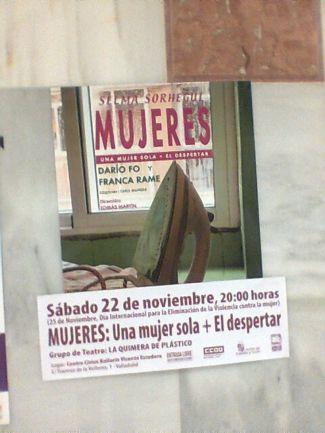 Cartel de la obra de teatro en la Facultad de Filosofia y Letras. /N.G.M