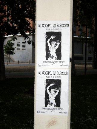 Cartel a favor del Aborto./N.G.M