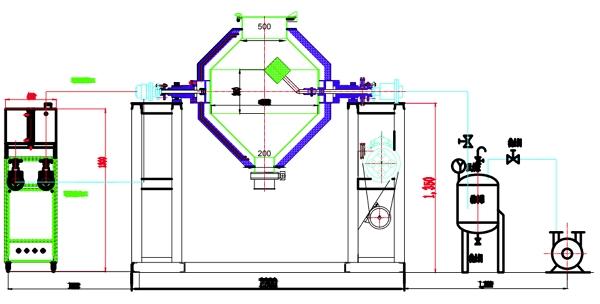 雙錐真空乾燥機結構