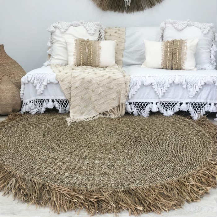 Willow & Beech Coco Wooven Rug ethical trade in Australia