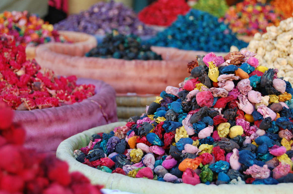 artisans in Morocco colorful process