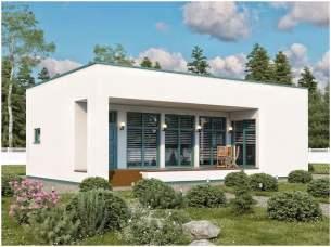 дом с плоской крышей, минимализм