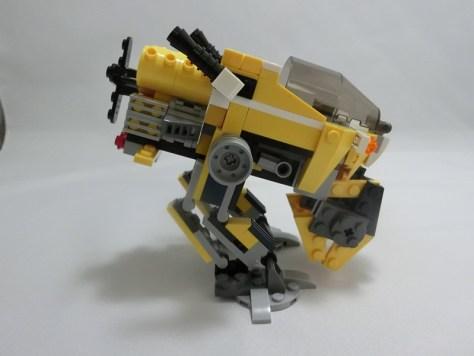 前足を収納下ロボ