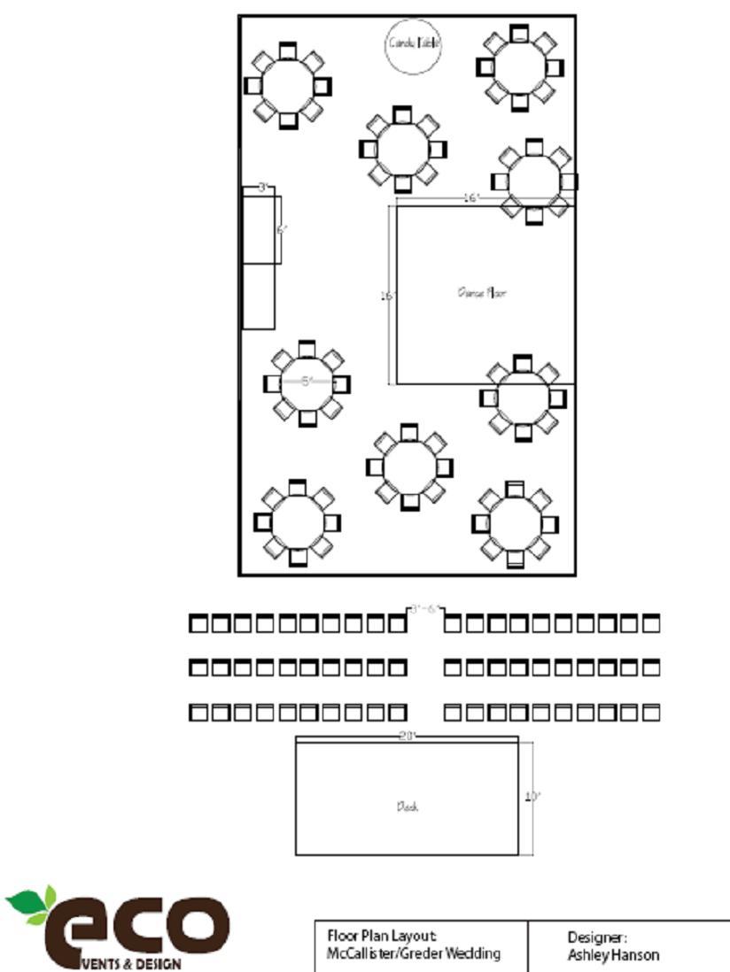 Wedding and Event Floor Plan Diagrams