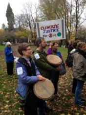 Portland Rally and March for Climate Justice. Dec 2015