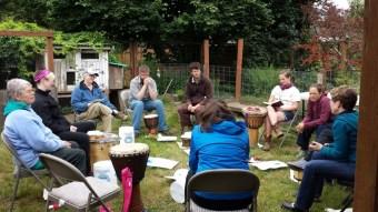 EcoFaith Insititute Drum Circle