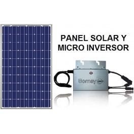 Kit de autoconsumo: Lo único que necesitas es el panel, el microinversor, y unos cables.