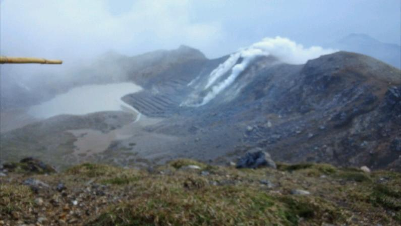 村おこしボランティア中之島コースで登った御岳からの眺め