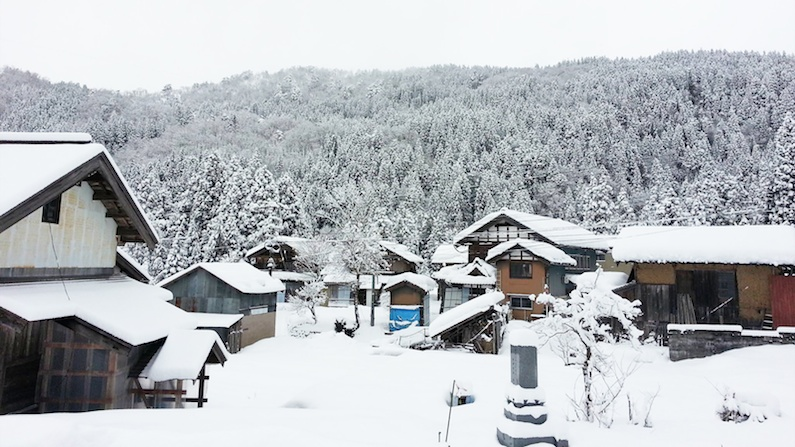 勝山市北谷町の冬景色