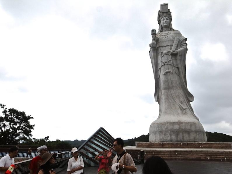 馬祖に立つ巨大な媽祖像