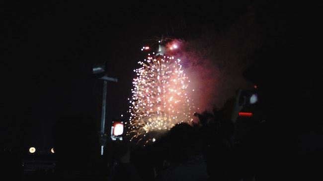 台北101花火大会の様子