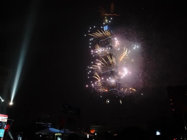 2015年の台北101花火大会