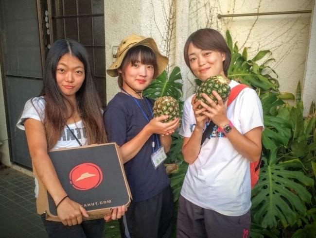 沖縄のボランティア活動に参加した学生達