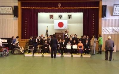 宝島に一つしかない小中学校の卒業式に参加!