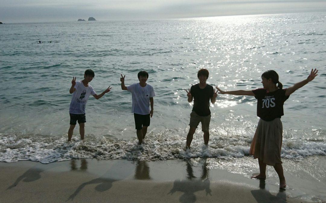 初の夏日程、神津島!