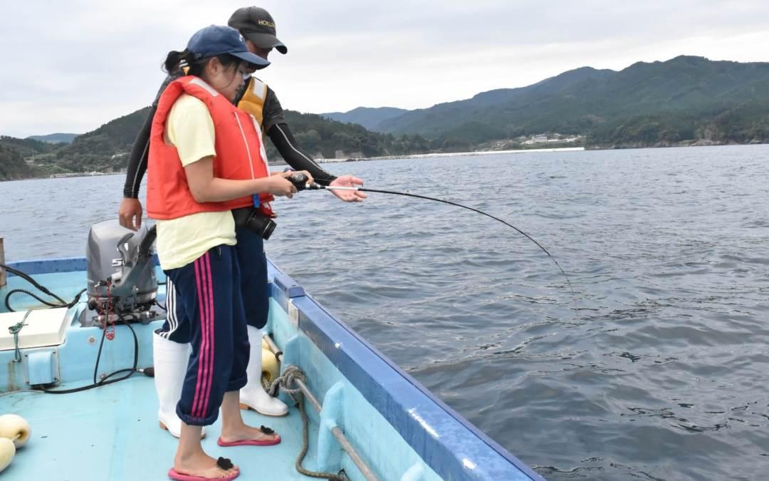 船上のヒラメ釣り