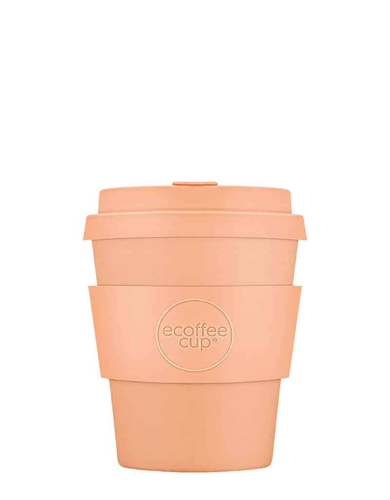 peach reusable coffee cup