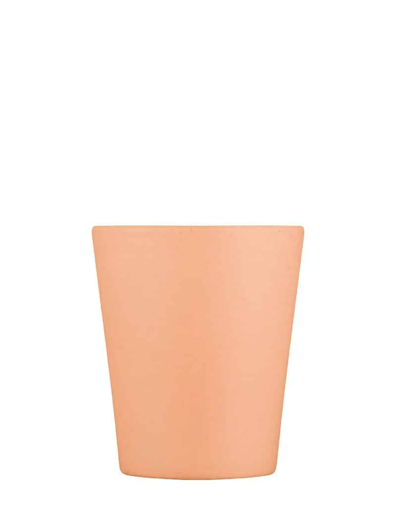 peach reusable coffee cup