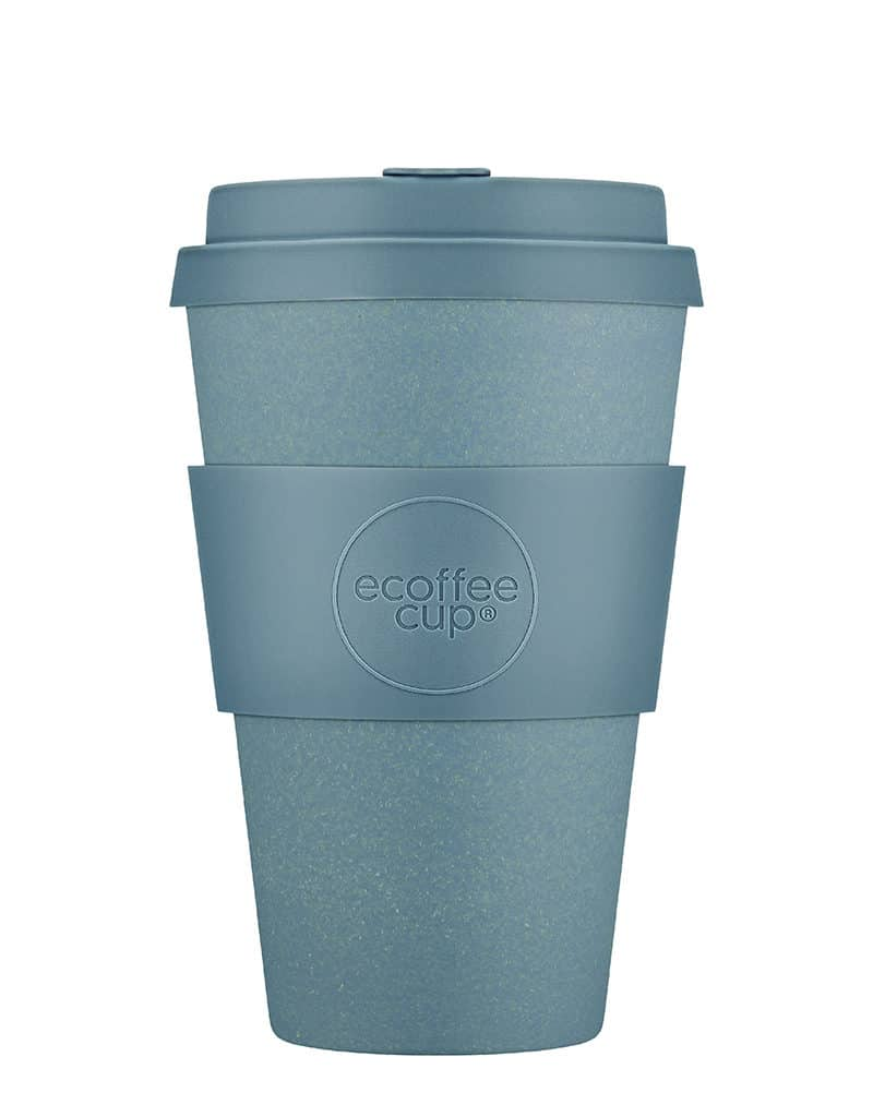 gray reusable coffee cup