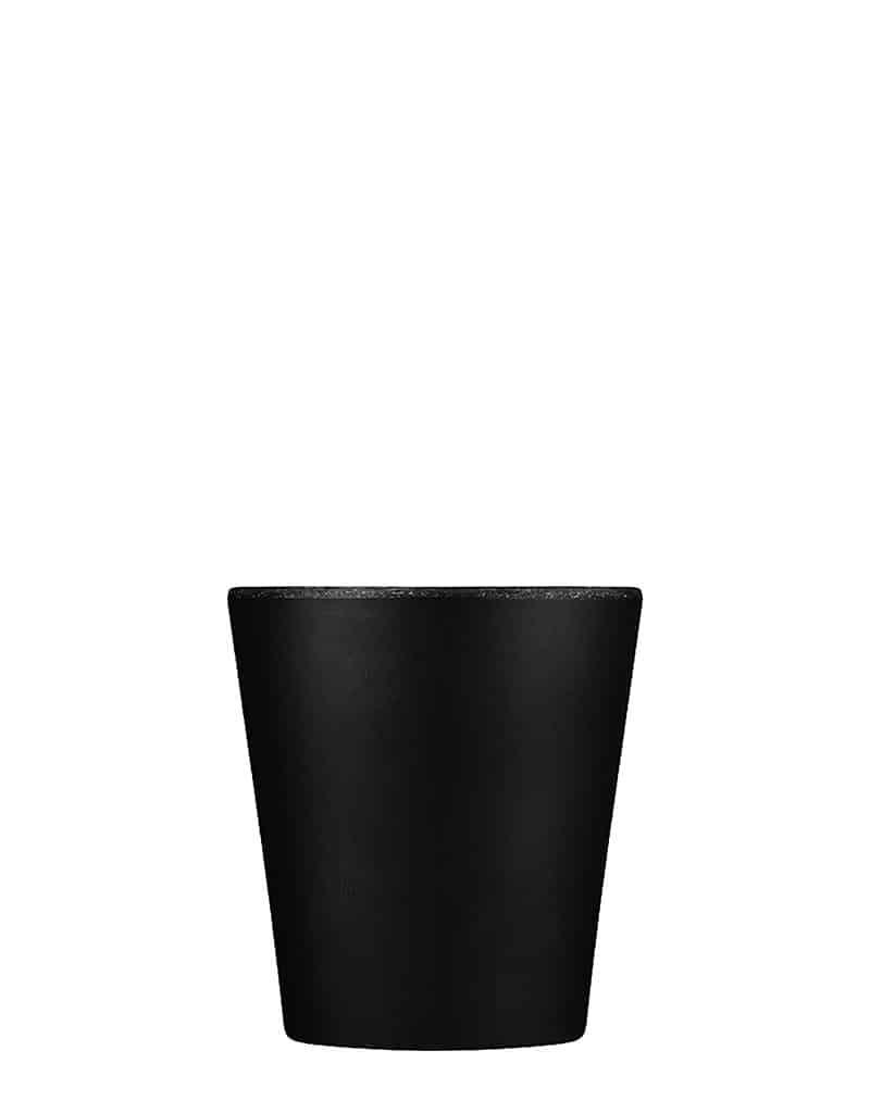 black reusable coffee cup
