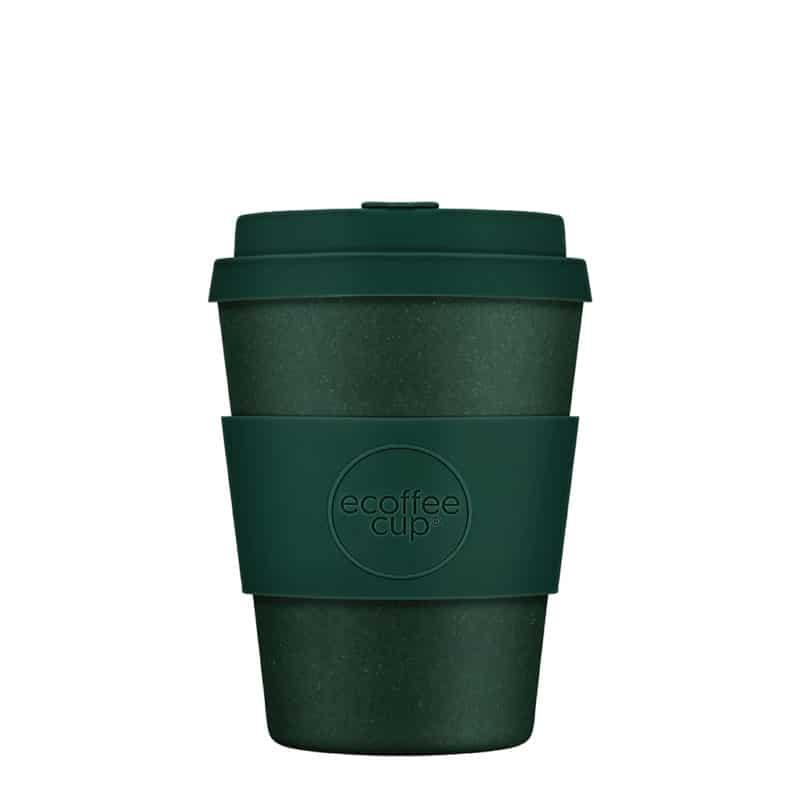 green reusable coffee cup