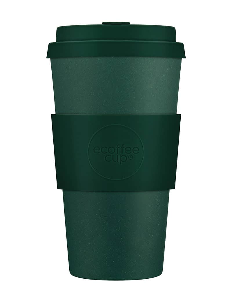 green reusable coffee cup