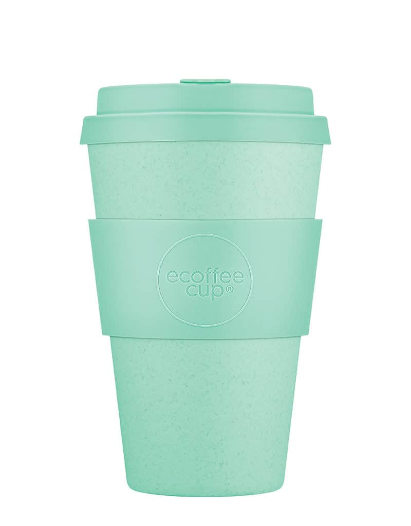 sky blue reusable coffee cup