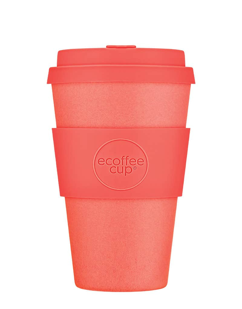 Medium orange sustainable coffee cup