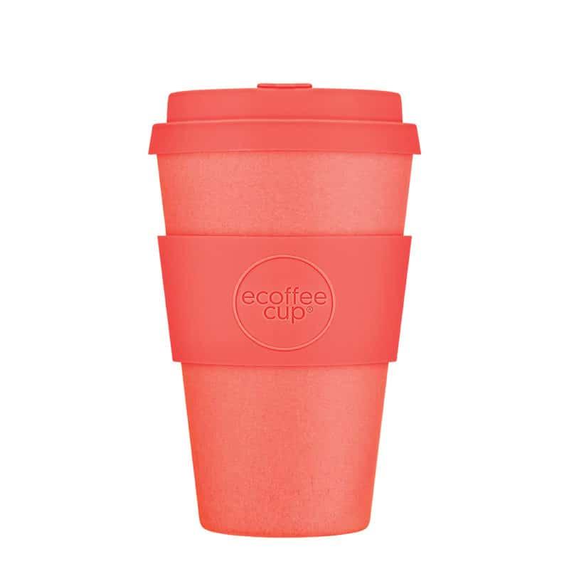Medium orange sustainable coffee cup