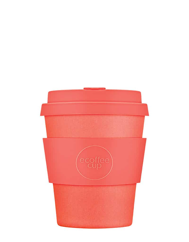 small orange sustainable coffee cup