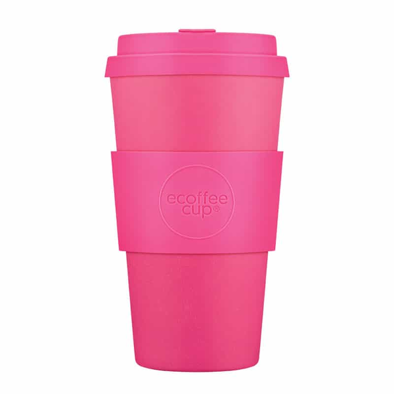 Tall pink reusable cups