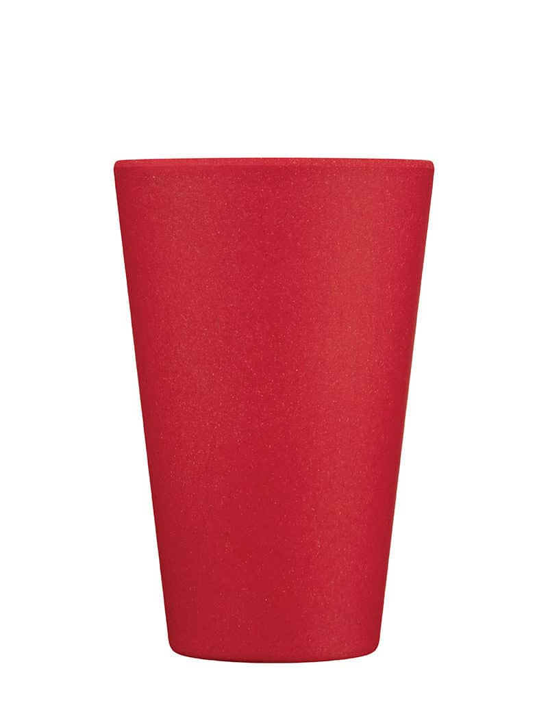 medium red reusable cup
