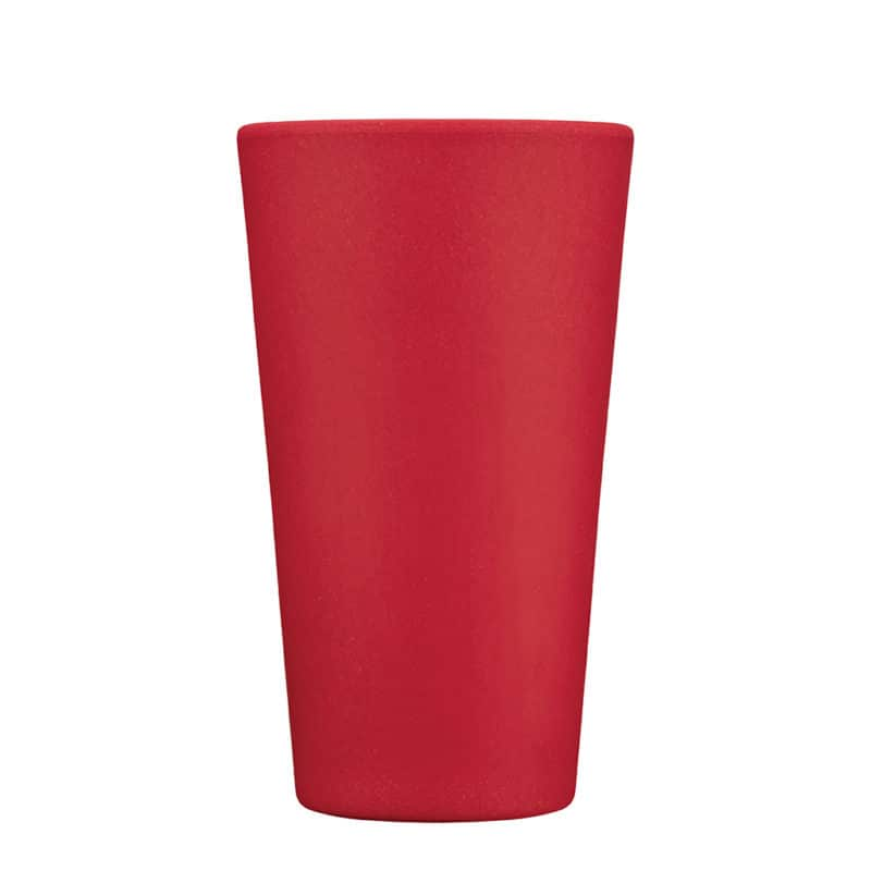 Tall red reusable cup