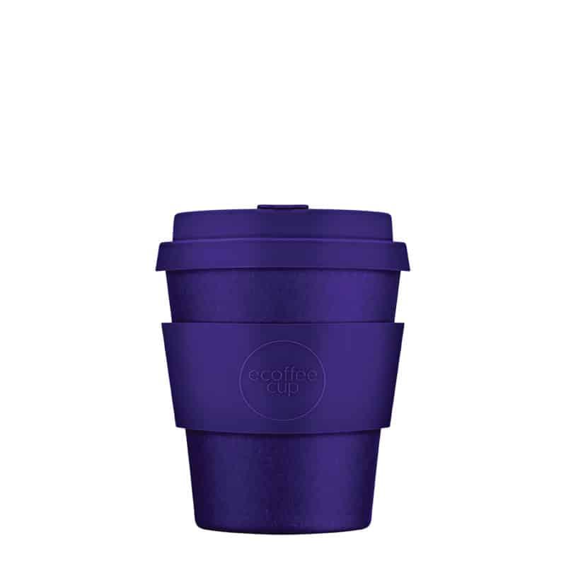 small purple reusable coffee cup