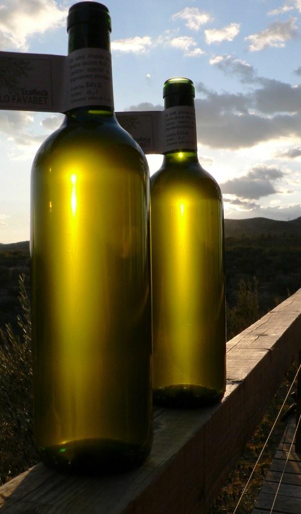 Botella-de-aceite-al-atardecer