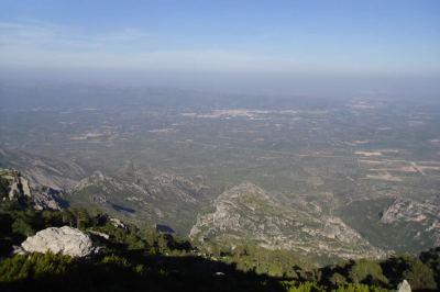 valle del Ebro y Tortosa desde La Barcina