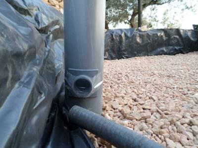 entrada de agua al tubo principal