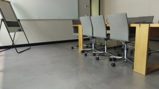 boardroom concrete flooring