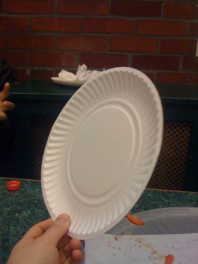 clean disposable plate