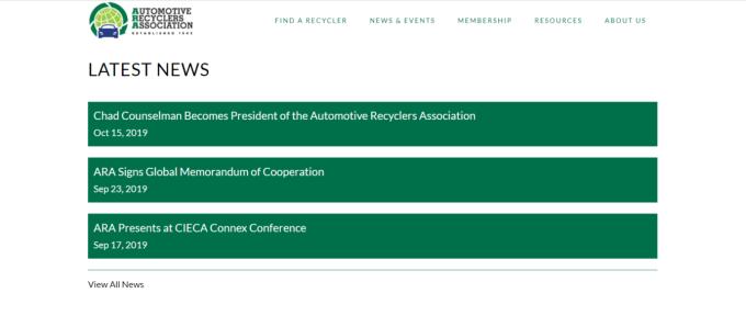 ARA website