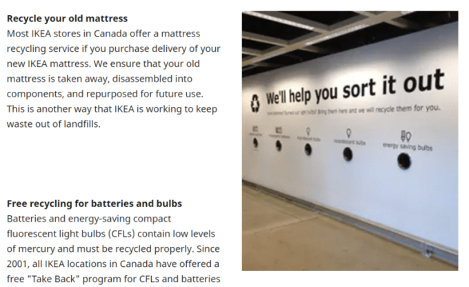 Ikea light bulb recycling