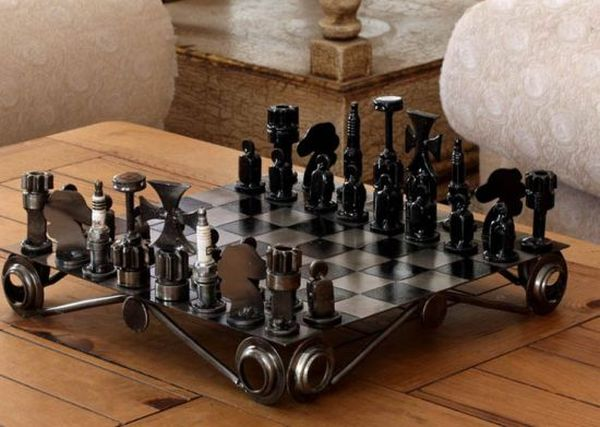 Eco-friendly Chess Sets Made From Auto Junk